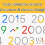 ricerche sul motore Google nel 2017