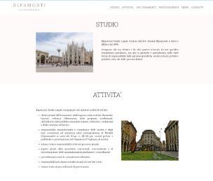 realizzazione sito internet avvocato penalista Ripamonti