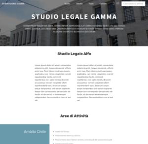 Modello Sito Web Studio Legale