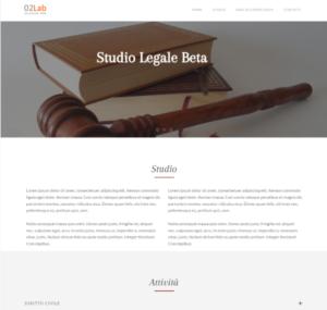 sito web layout per avvocati
