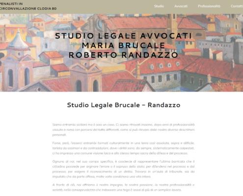Sito web per Studio Legale Avvocati Brucale-Randazzo