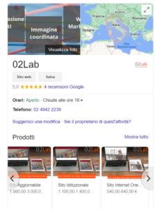 scheda google 02Lab