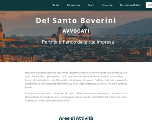 Sito web Avvocato Del Santo Beverini La Spezia
