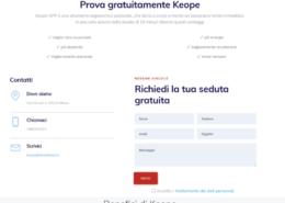 landing page keope milano